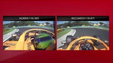 SkyPad: McLaren qualifying comparison