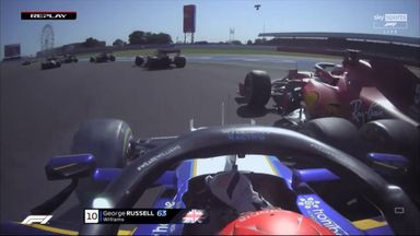 The clash that caused Russell grid penalty