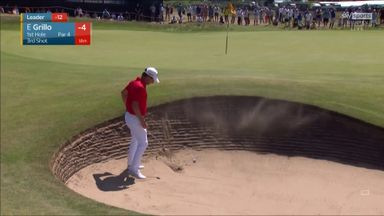 Bunker trouble for Grillo at the first