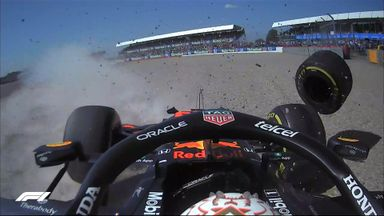 Verstappen out on first lap after Hamilton collision!