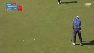 Morikawa level after Oosthuizen bogey
