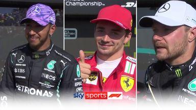 British GP top three react to Hamilton win