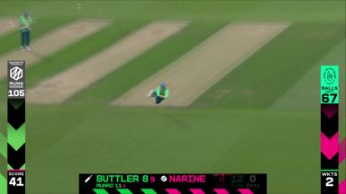 Buttler out to diving catch!