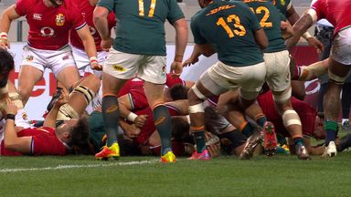 Cowan-Dickie scores Lions' first try