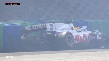 Schumacher crashes out!