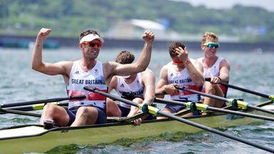 Silver for GB in men's quadruple sculls