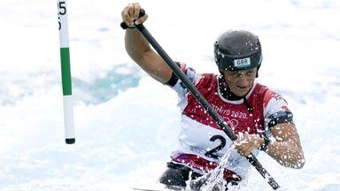 Franklin wins silver in canoe slalom