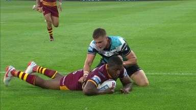 McGillvary dives over for his hat-trick!