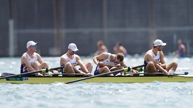 Disappointment for Team GB men's four