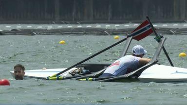 Norwegian rowers capsize in Tokyo