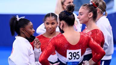 Biles withdraws from women's team final