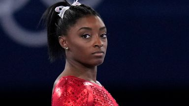 USA athletes show support for Biles