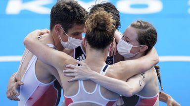 GB claim gold in inaugural triathlon mixed relay