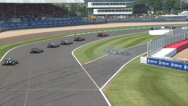 Vettel spins off the track!