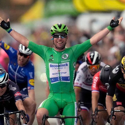 Cavendish matches Tour de France record