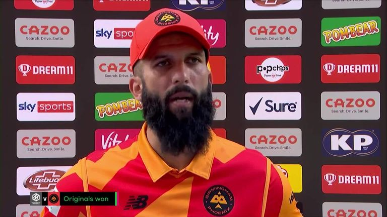 Birmingham Phoenix captain Moeen Ali was left frustrated after his side were skittled for 87 in their loss to Manchester Originals.