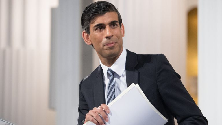 Chancellor of the Exchequer Rishi Sunak after delivering his 'Mansion House' speech at the Financial and Professional Services Address, previously known as the Bankers dinner, at Mansion House in the City of London. Picture date: Thursday July 1, 2021.