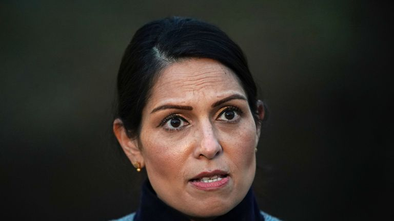 File photo dated 28/1/2021 of Priti Patel. The Home Office has also refused to say how much it has spent on Napier Barracks or how much money has been handed to contractors. Issue date: Tuesday July 6, 2021.