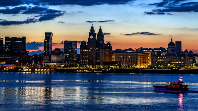 File photo dated 5/6/2021 of the view across the River Mersey just before the sun rises behind the Liverpool waterfront. The city has been deleted from the World Heritage List after a United Nations committee found developments including the new Everton FC stadium threatened the value of the city's waterfront. Issue date: Wednesday July 21, 2021.