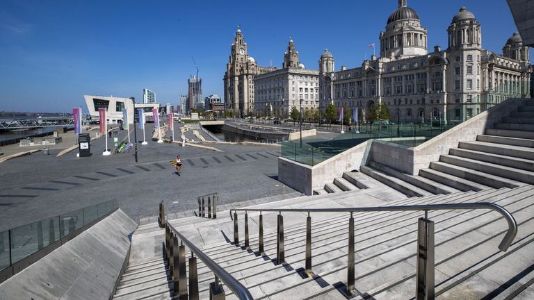 File photo dated 22/4/2020 of the waterfront in Liverpool. The city has been deleted from the World Heritage List after a United Nations committee found developments including the new Everton FC stadium threatened the value of the city's waterfront. Issue date: Wednesday July 21, 2021.