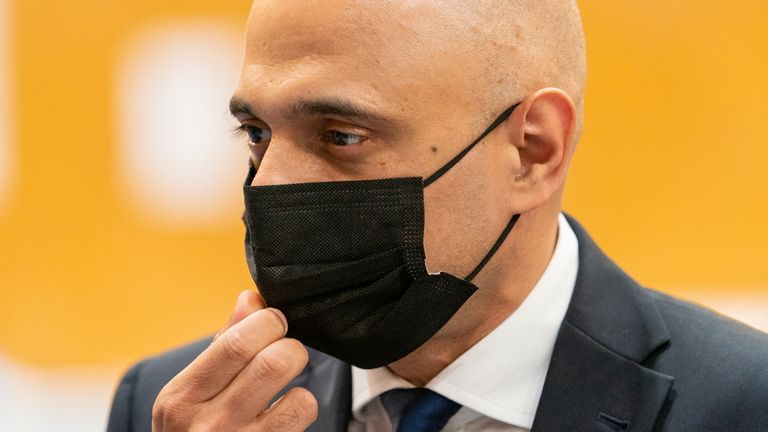 Health Secretary Sajid Javid during a visit to a pop-up vaccination site at Little Venice Sports Centre in west London. Picture date: Wednesday July 28, 2021.