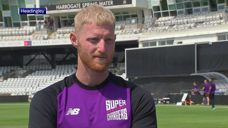 England all-rounder Ben Stokes looks forward to The Hundred, discusses his new Phil Foden-inspired haircut and praises Liam Livingstone's huge six at Headingley against Pakistan