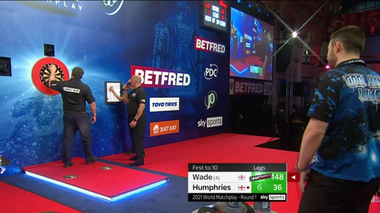 James Wade took out this big checkout during his first-round match against Luke Humphries at the World Matchplay