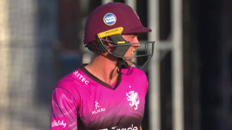 Somerset batsman Tom Lammony hit a sensational 90 from 36 balls against Gloucestershire in the Vitality Blast, with his innings featuring 11 fours and four sixes