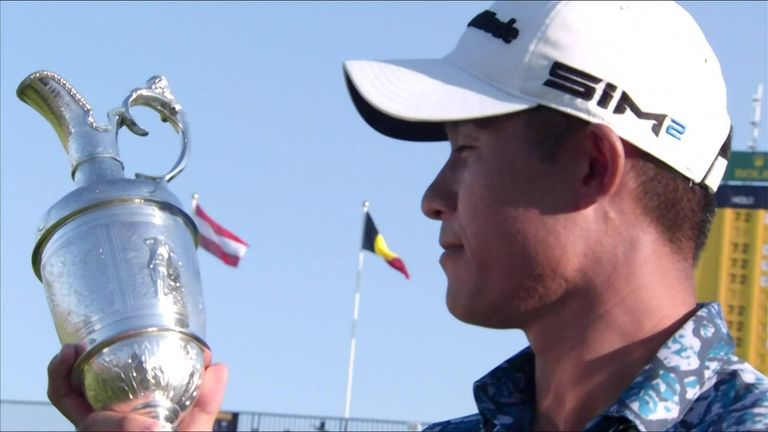 The best shots and key moments from a historic final round of The 149th Open at Royal St George's, where Collin Morikawa held off Jordan Spieth to win by two shots.