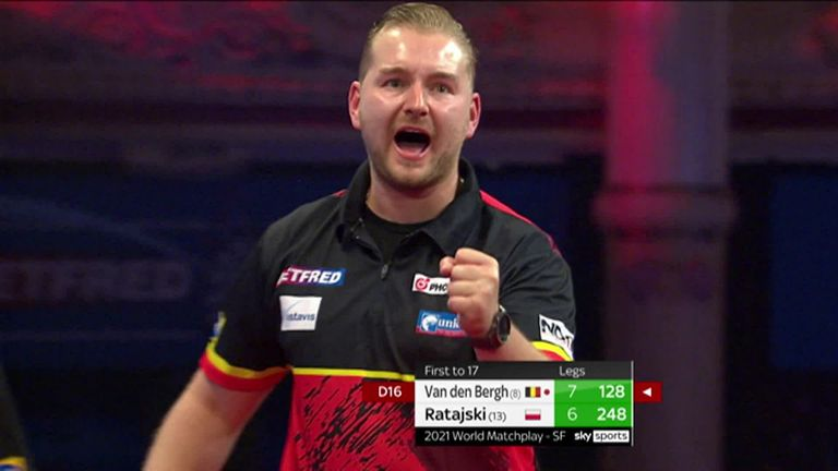 Van den Bergh produced a series of classy ton-plus finishes in his semi-final win over Krzysztof Ratajski