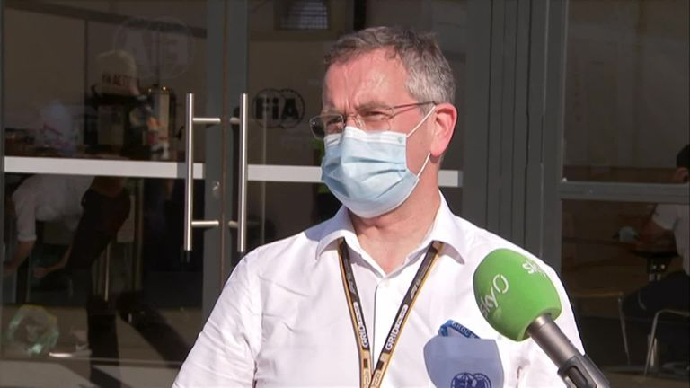 FIA Medical Rescue doctor Ian Roberts provides an update on Max Verstappen after his collision with Lewis Hamilton