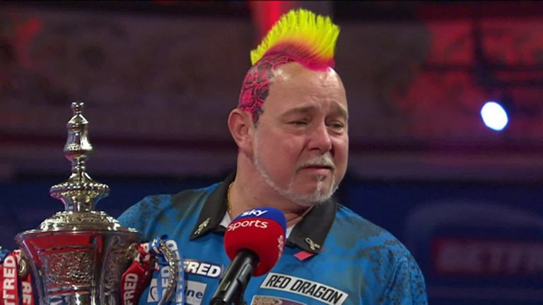 An emotional Peter Wright dedicated the World Matchplay title to his wife and said he felt he was going to win it from the start of the tournament