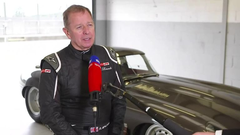 Martin Brundle speaks at Silverstone, where he was testing a Jaguar E-type with son Alex, about the big topics of the moment in Formula 1 ahead of the British GP