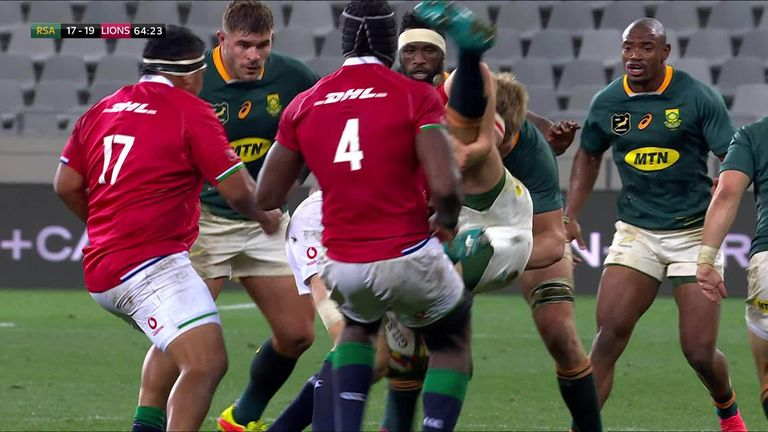 Former international referee Nigel Owen's believes Hamish Watson was fortunate to stay on the field in the Lions' first Test victory over South Africa