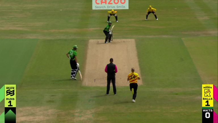 The best of the action from Trent Bridge where Trent Rockets took on the Southern Brave in The Hundred.