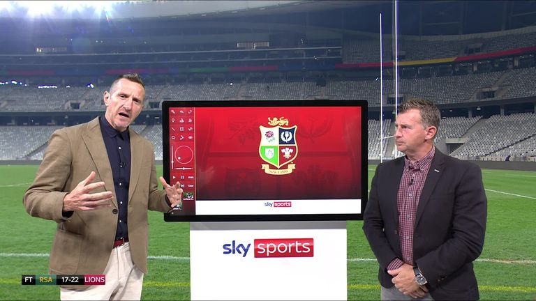 Will Greenwood and former international referee Nigel Owens analyse the TMO's decision to disallow Willie Le Roux's try in the first Test