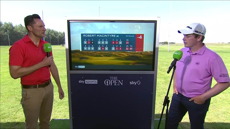Scotland's Robert MacIntyre reflects on producing a much-improved putting display during a third-round 65 at The Open