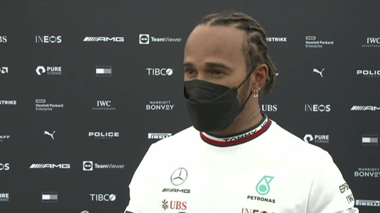 Lewis Hamilton is reluctant to admit there is improvement but he expects a tough challenge ahead of qualifying.