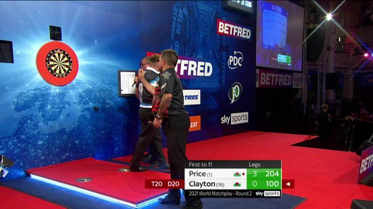 Clayton nailed this neat ton checkout against Price