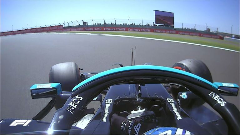 A session short on incident until this late, late spin for Valtteri Bottas in the Mercedes.