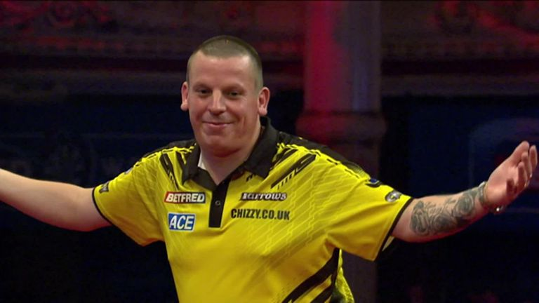 Chisnall took out this superb 130 against Van den Bergh