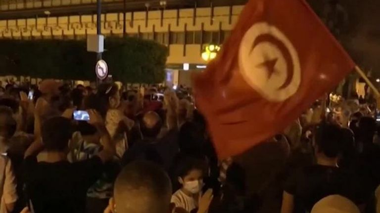 Tunisians celebrate after PM ousted