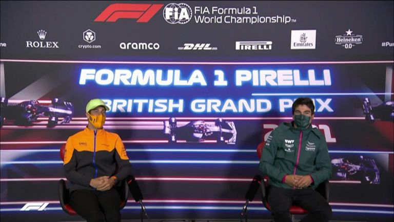 Daniel Ricciardo and Lance Stroll showed their best Scottish accent at a press conference before the British Grand Prix