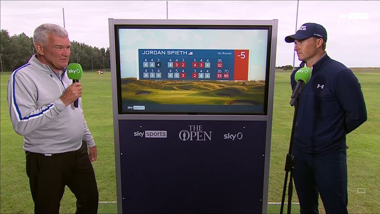 Former Open champion Jordan Spieth reflects on making a fast start to this year's contest with an opening-round 65 at Royal St George's.
