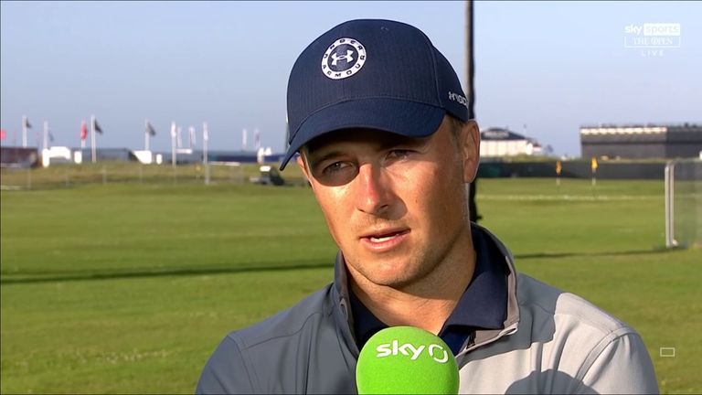 Jordan Spieth was left disappointed by missed opportunities during a second-round 67 at The Open, dropping the three-time major champion three off the lead