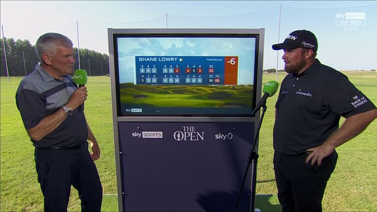 Shane Lowry reflects on ending his title defence at The Open with a one-under 69 and discusses a memorable week at Royal St George's