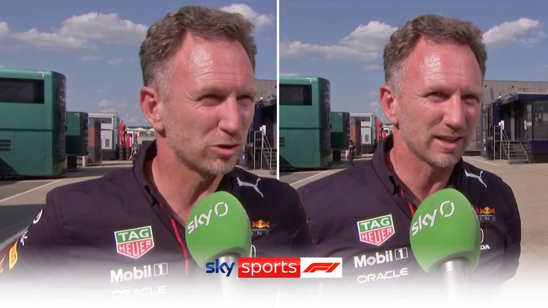 Christian Horner was unimpressed with Lewis Hamilton's win following a first-lap collision with Max Verstappen that forced the Red Bull driver to retire