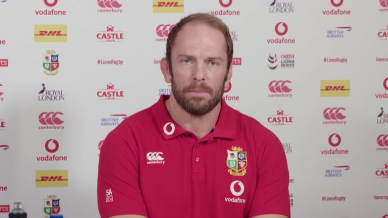 British and Irish Lions captain Alun Wyn Jones said the team was in South Africa to win the Test Series and insists his rapid recovery from a dislocated shoulder was not just due to him.