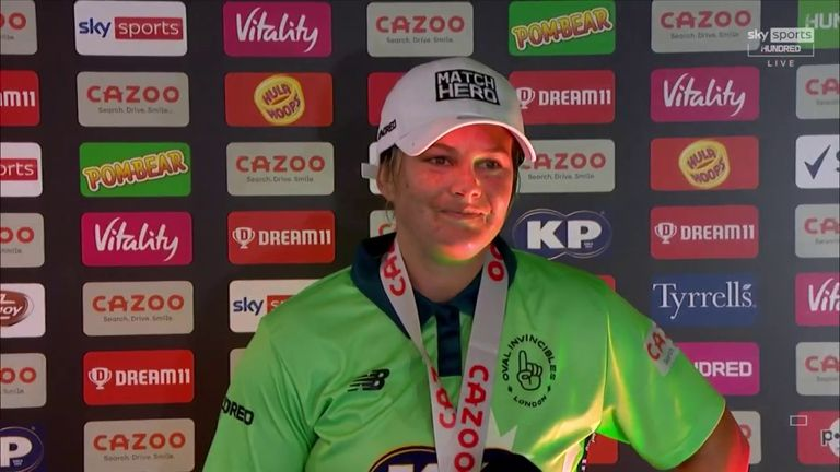 Oval Invincibles skipper Dane van Niekerk says steering her side to victory was one of best moments of her career