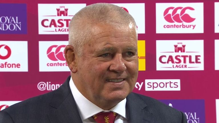Warren Gatland says the first half between the British and Irish Lions and South Africa was incredibly physical but was delighted his side improved to claim the first Test of the series